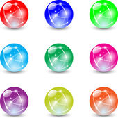 Marbles — Stock Vector