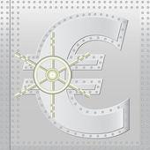 Safe euro — Stock Vector
