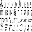 Stock Vector: Music symbols