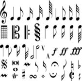 Music symbols — Stock Vector