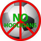 Geen hooligans — Stockvector