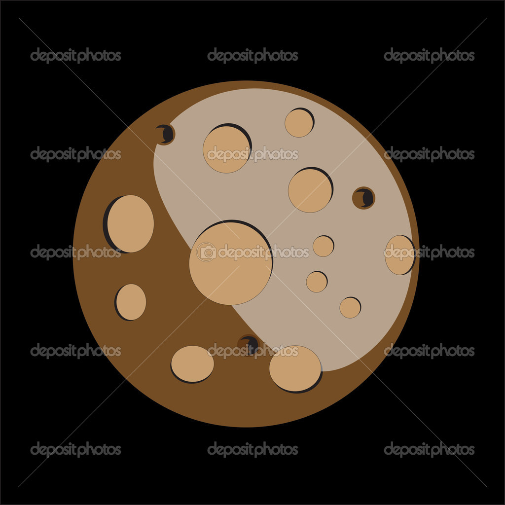 Moon illustration — Stock Vector #11993755