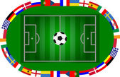 参与国家的欧洲锦标赛 — 图库矢量图片