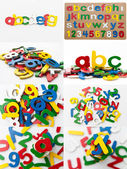 Alphabet Toy Board — Stock Photo