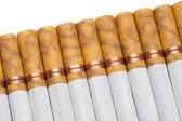 Cigarette Line Up — Stock Photo