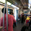 Stock Photo: Passengers in Skytrain