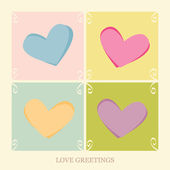 Love Greetings — Stock Vector