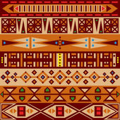 African ornament — Stock Vector