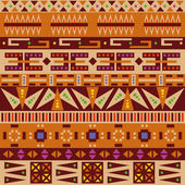 Set of african patterns — Stock Vector