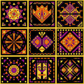 African patterns — Stock Vector