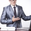 Young male receptionist - Stock Photo