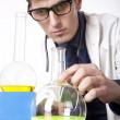 Young male laboratory technician — Stock Photo #11640220