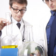 Two young male laboratory technicians — Stock Photo #11640239