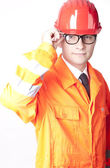Young male builder — Stock Photo