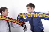 Germany and Sweden fan — Stock Photo