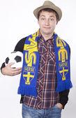 Sweden fan — Stock Photo