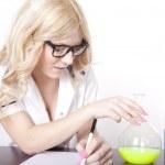 Young attractive female laboratory technician — Stock Photo #11677089