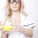 Young attractive female laboratory technician — Stock Photo