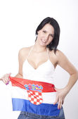 Croatia fan — Stock Photo