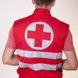 Stock Photo: Young male ambulance technician