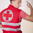 Young male ambulance technician - Stock Photo