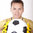 Young attractive football player — Stock Photo #12091461