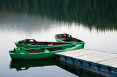 Boats the lake — Stock Photo