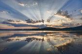 Morning lake landscape — Stock Photo