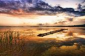 Beautiful lake landscape — Stock Photo