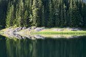 Mountain lake with reflection — Stock Photo