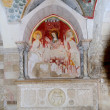 Trani cathedral: fresco in the crypt of St. Mary — Stock Photo