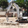 Excavator with hammer — Stock Photo #11897884