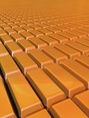 Surface of Gold bars — Stock Photo