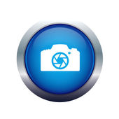 Photographic camera icon — Stock Photo
