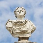 Greek god sculpture — Stock Photo