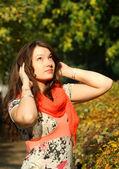 осень женский портрет — Стоковое фото