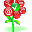 Icon Tree of success flower — Stockfoto