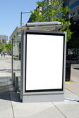 Bus stop billboard — Stock Photo