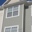 Townhouse with vinyl siding - Stock Photo