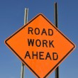Stock Photo: Road work sign