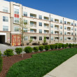 Stock Photo: Modern apartment complex exterior