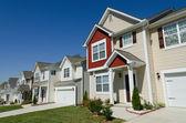 Street of residential houses — Stock Photo