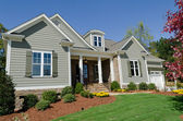 Suburban house exterior — Stock Photo