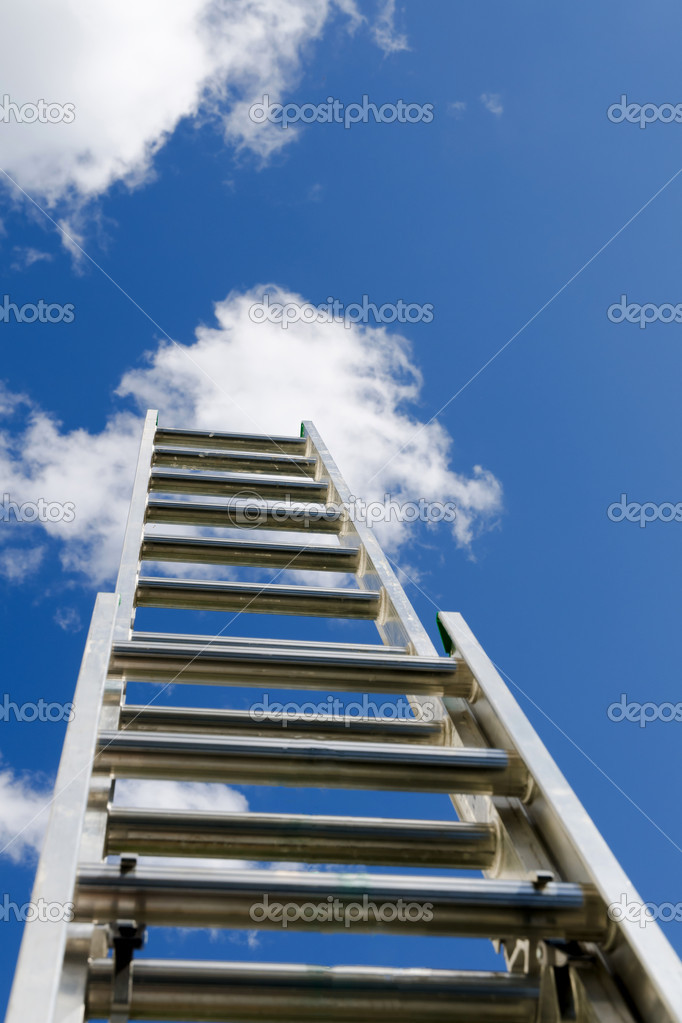 Ladder reaching the clouds  — Stock Photo #11345199