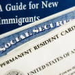 New US immigrant documents — Stockfoto