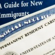 Stok fotoğraf: New US immigrant documents