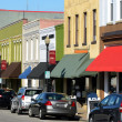 Main street in american town - Stock Photo