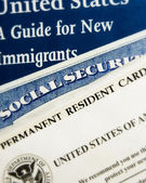 New US immigrant documents — Foto Stock