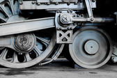 Steam locomotive wheels — Stockfoto