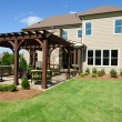 Stock Photo: House with pergola